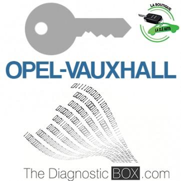 Activation logiciel Opel, Vauxhall TDB1000