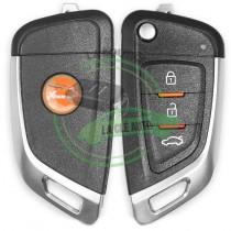 Télécommande XHORSE XKKF02EN Universelle 3 boutons BMW Hyundaiwire modèle